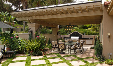patio and landscaping - construction masters